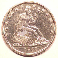1869 SEATED LIBERTY HALF DOLLAR MS DETAILS COIN