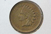 1860 INDIAN CENT XF POINTED BUST FS 401