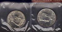 1993 P & 1993 D UNCIRCULATED KENNEDY  HALF DOLLARS IN MINT SET CELLO 2 COINS