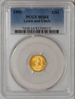 1905 $ GOLD LEWIS & CLARK MINT STATE 64 PCGS