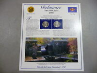 DELAWARE THE FIRST STATE 1787 STATEHOOD QUARTERS AND STAMPS