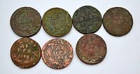 RUSSIAN IMPERIAL COPPER COINS DENGA 1730 1748
