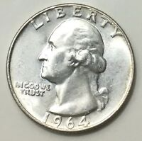 1964D WASHINGTON QUARTER $2.60 FLAT FEE SHIPPING EXACT COIN TO SHIP