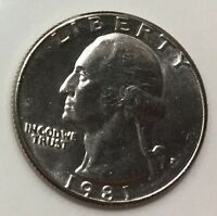 1981 WASHINGTON QUARTER $2.60 FLAT FEE SHIPPING EXACT COIN TO SHIP