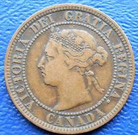 1888 CANADA LARGE CENT KM 7 QUEEN VICTORIA NICE CIRCULATED COIN  DD