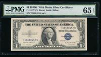AC 1935G $1 SILVER CERTIFICATE 'WITH MOTTO' STAR PMG 65 EPQ GEM  FR 1617