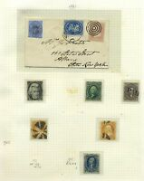 US 1861-67 MINT AND USED PLUS COVER TO ALBANY EX CASPARY CAT $16,500