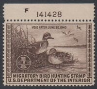 US HUNTING PERMITS SC  RW6 1939 $1 MINT NH CAT $225