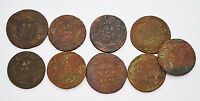 RUSSIAN IMPERIAL COPPER COINS DENGA 1730 1740