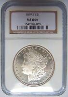 1879 S SILVER MORGAN DOLLAR NGC MINT STATE 64 STAR CAMEO DEEP MIRROR PROOF DMPL DPL COIN