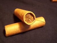 1968 S ORIGINAL BANK WRAPPED  UNCIRCULATED LINCOLN CENT ROLL   OBW PENNY2