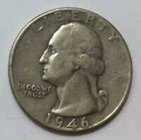 1946 WASHINGTON QUARTER 90 SILVER $2.60 FLAT FEE SHIPPING EXACT COIN TO SHIP
