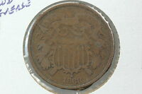 1868 TWO CENT VG