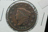 1826 LARGE CENT VG OLD LIGHT CLEANING