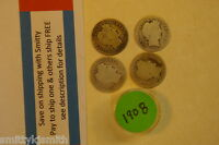 1908  BARBER 90 SILVER LIBERTY DIME TEN CENT ONE 1 COIN  SEVERAL AVAILABLE