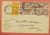 1931 MULTI FRANKED NAVAL COVER USS LANGLEY IN CANAL ZONE SHIPS MAIL AIRMAIL