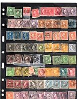STOCK ALBUM PAGES US STAMPS 1860-1970,S MINT/USED
