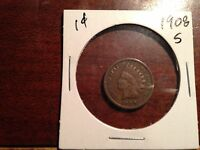 1908 S INDIAN HEAD CENT