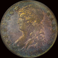 1808 CAPPED BUST HALF PCGS XF 40 TONED