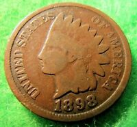 1898 INDIAN HEAD CENT PENNY   LOT IH2