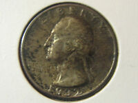 1932 WASHINGTON QUARTER TONED 25C   90 SILVER
