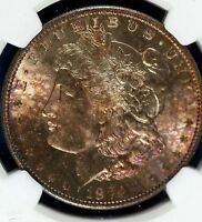 1879 S MORGAN SILVER DOLLAR NGC MINT STATE 66 LOTS OF COLOR WILD TONER