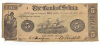 1846 THE BANK OF SELMA OHIO   FIVE DOLLAR OBSOLETE SPURIOUS NOTE
