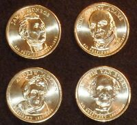 2008 D PRESIDENTIAL DOLLAR COIN SET - 4 COINS  UNCIRCULATED SHIPS FREE