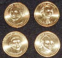 2007 D PRESIDENTIAL DOLLAR COIN SET - 4 COINS  UNCIRCULATED SHIPS FREE