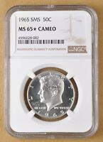 1965 SMS KENNEDY SILVER HALF DOLLAR NGC MS65 STAR CAMEO