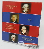 2007 UNITED STATES MINT PRESIDENTIAL $1 COIN UNCIRCULATED SET - P & D