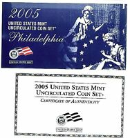 DGLIB 1954: US MINT SET 2005 P D INC SACAGAWEA DOLLARS W/COA