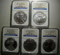 Click now to see the BUY IT NOW Price! 2011 AMERICAN SILVER EAGLES   25TH ANNIV. SET   NGC PF/MS 70 GRADE FOR ALL