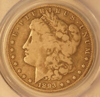1893-O MORGAN DOLLAR  - PCGS VG 10 -  CERTIFIED KEY DATE