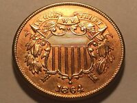 1864 TWO CENT PIECE   CHOICE BU RED 4