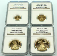 2000 PROOF AMERICAN GOLD EAGLE SET 4 COINS NGC PROOF 69