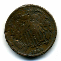 1864 2C PIECE US TWO CENT AMERICAN  LOW MINTAGE KEY DATE US COIN340