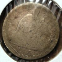 1856 SILVER SEATED LIBERTY HALF DIME  GOOD CONDITION HD168