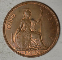 GREAT BRITAIN 1940 1 PENNY COIN   HIGH GRADE