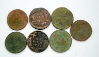 RUSSIAN IMPERIAL COPPER COINS DENGA. 1731 1741