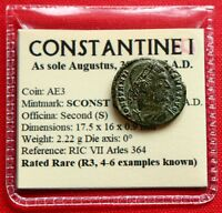 GENUINE ROMAN COIN CONSTANTINE I  AE3 335 AD PALM BRANCH ARLES