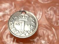 GREAT BRITAIN 1893 SILVER MAUNDY 1 PENCE ONLY 159 000 MINTED