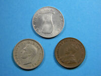 LOT OF   3  OLD COINS  0828   1934 1949 1953