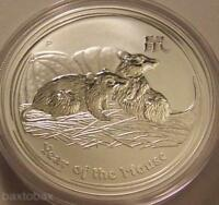 2008 AUSTRALIAN LUNAR YEAR OF THE MOUSE  RAT  1 OZ. SILVER C