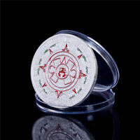 39MM SILVER PLATED MAYAN PROPHECY AZTEC GOLD CALENDAR COMMEMORATIVE COIN GIFT