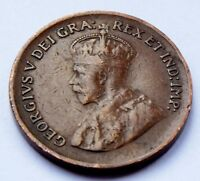 1932 KING GEORGE V  CANADA 1 CENT COPPER COIN