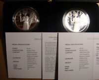 2016 AMERICAN LIBERTY SILVER MEDALS SAN FRANCISCO AND WEST POINT MINTS W/OGP