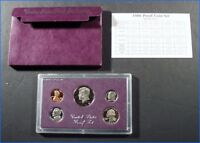 1986S UNITED STATES MINT PROOF SET SEALED CASE & SLEEVE & SPECIFICATION CARD