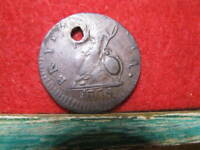 COLONIAL 1774 FARTHING OFF STRUCK ERROR A FOR V GEORGE III