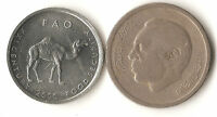 TWO AFRICA COINS MOROCCO 1 DIRHAM 1974 SOMALIA 10 SHILLINGS 2000